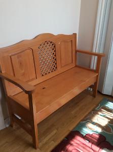Solid Pine Storage Bench
