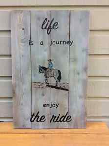 Hand painted, reclaimed cedar wood sign...fairly large