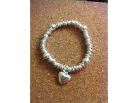 Silver bracelet with heart charm £30 or best offer