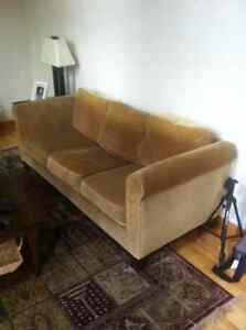 Couch - Canmore, optional coffee table, side chair