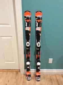 Two sets of Skis - Techno Pro 130 with bindings (orange & red)