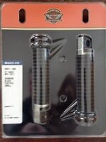 Set of stock rubber Harley foot pegs