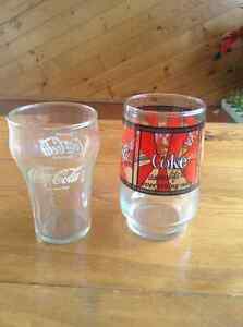 Two Vintage Coke Glasses