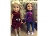 Two Design a friend dolls and huge bundle of accessories