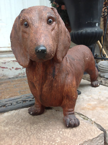 VERY SPECIAL Concrete Statues of  Dachshund FOR SALE