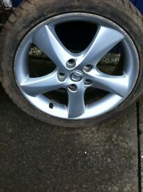 """Mazda 6 sport 17"""" alloys with new tyres"""