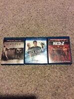 3 Blu-Ray Movies In Great Condition!