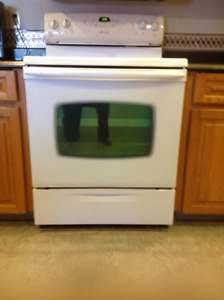 White Maytag Electric Range