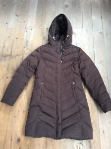 Eddie Bauer Brown Winter Down Coat XS