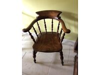 Victorian Smokers Bow Chair