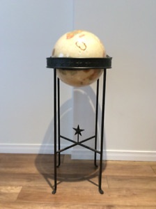 Floor Globe on Ring Stand