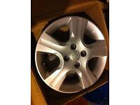 Alloy wheels 4x100 brand new with out scratches