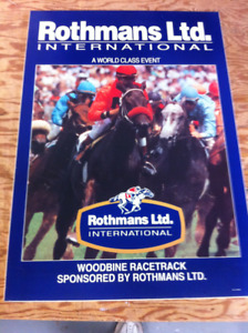 Thoroughbred Horse Racing, Rothmans International, Woodbine