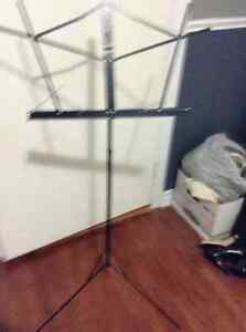 Black metal collapsible music stand for sale London Ontario image 1