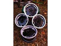 "Bmw x5 3 5 set 4x alloy wheels 17"" 5 x 112 studs rare German black silver dish spacers refurbished"
