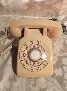 Rotary Dial Telephone -Beige in Colour