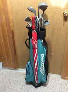 13 piece set of golf clubs (North Western) Left Hand