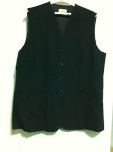 Womens Vest, Town and Country, size 18, navy blue, NEW