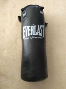 EVERLAST LEATHER PUNCHING BAG;