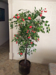 5 FOOT SILK TREE WITH FLOWERS