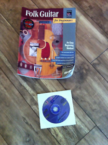 Folk guitar book and CD for beginners