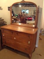 4 Drawer Maple Dresser - free delivery