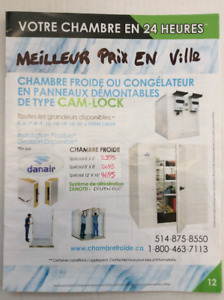 Chambre froide --walk-in,, cold room freezer