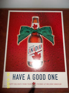 Happy Holidays from Molson Canadian Beer Sign