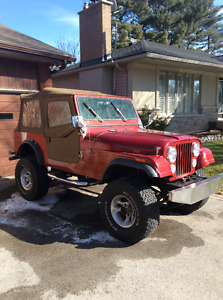 1986 Jeep CJ7. Get ready for the Spring and Summer!