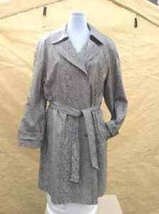 Apropos brand size 12 vinyl snake print trench coat