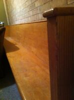 10ft Wooden church pew.