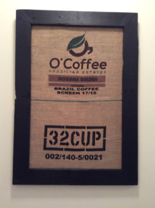 Authentic framed coffee logo