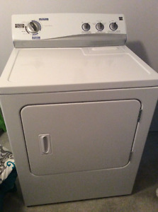 White electric clothes dryer