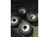 Yamaha yfz450 wheels and tyres Douglas rims quad wheels quad tyres