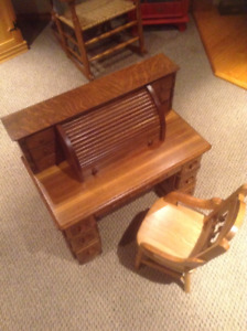 Antique Child's rolltop desk