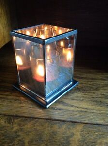 Infinity votive candle holder