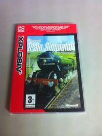Microsoft PC CD Rom train simulator game
