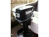 20hp Johnson outboard boat engine