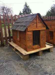 Insulated, all weather dog house.