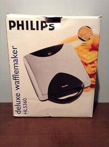 """""""PHILIPS"""" WAFFLE MAKER.....MINT CONDITION, LIKE NEW!!"""