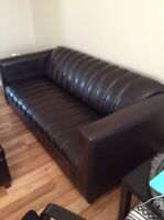 Brown/black couch