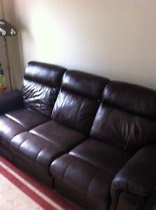 Couch, Brown Faux Leather
