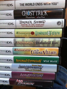 Various DS games Layton, Ace Attorney, world ends with you etc..