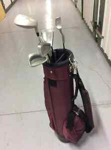 Sac de golf et batons pour jeune, golf bag and clubs for kids