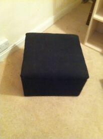 Black footstool / storage box