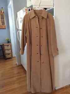 Manteau de laine d'Alpaga