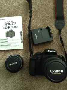 EOS Rebel t3 camera and 50mm lens