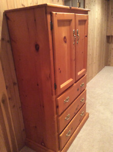 Armoire, dresser, table and desk