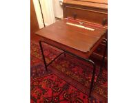 Vintage child desk with ink well