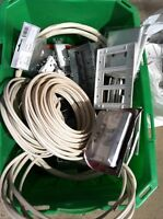 Box of assorted electrical materials